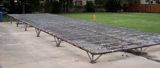 Hose Rack For Cleaning And